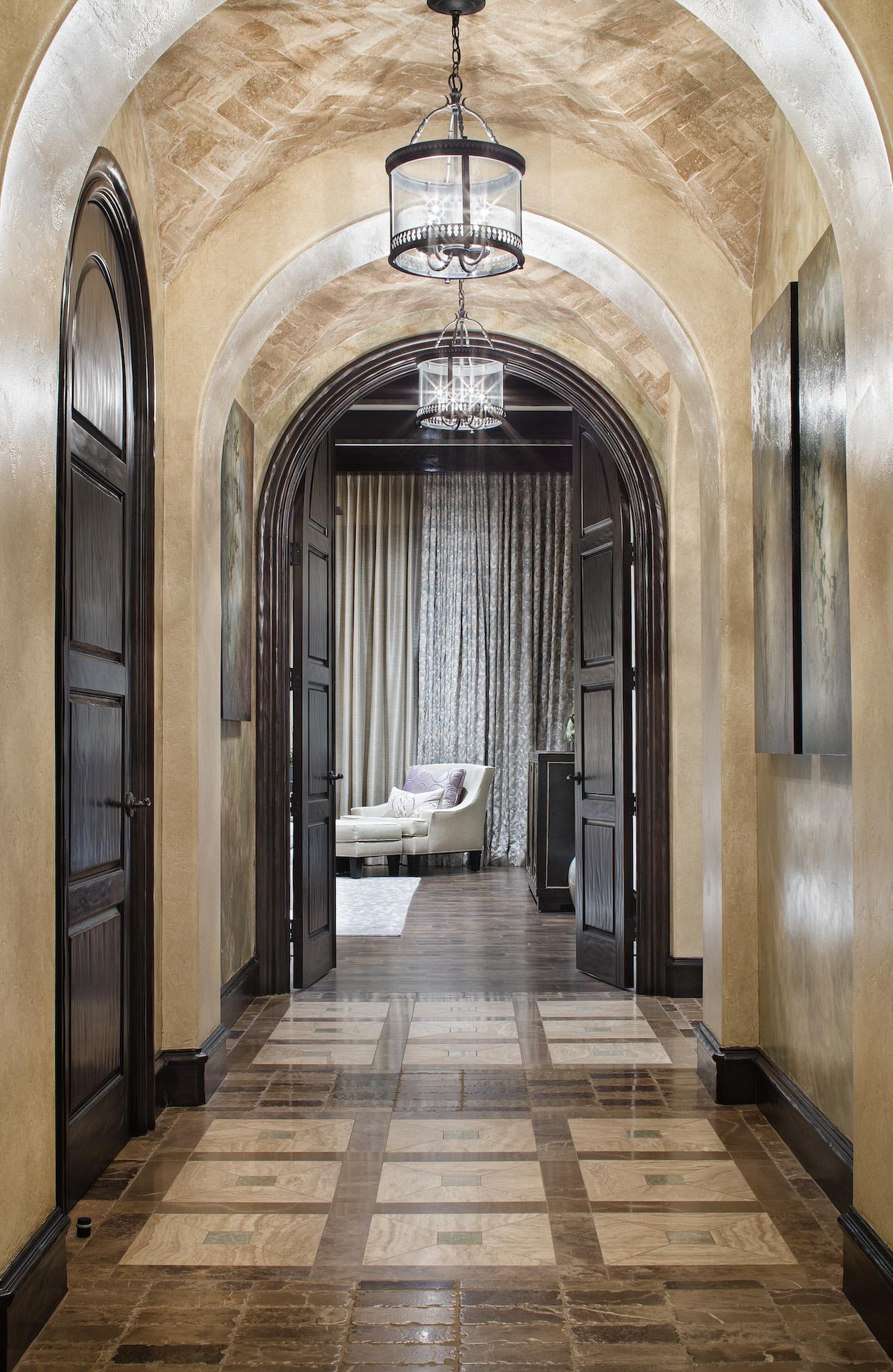 Tuscan transitional jauregui architects - Custom house interiors ...